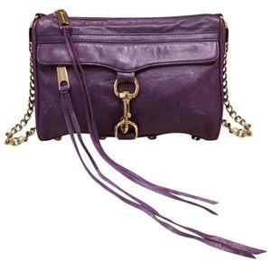 Rebecca Minkoff MAC Purple Leather Cross body bag
